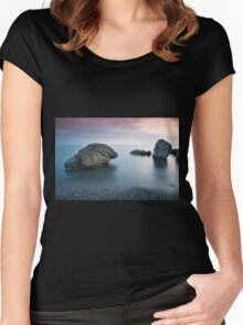Sunset on the beach Women's Fitted Scoop T-Shirt