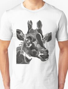 back and white giraffe street art Unisex T-Shirt