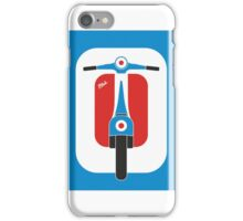 Beautiful Vespa scooter wheels french flag color  iPhone Case/Skin
