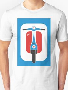 Beautiful Vespa scooter wheels french flag color  Unisex T-Shirt