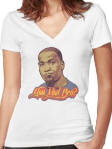 You Mad Bro? Women's Fitted V-Neck T-Shirt