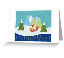 Fox Illustration - Let It Snow Greeting Card