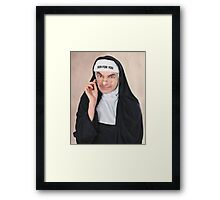 Mr.bean nun for you Framed Print