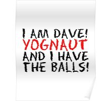 I AM DAVE! YOGNAUT, AND I HAVE THE BALLS! Poster