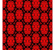 Audrey Black Red Pattern Photographic Print