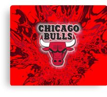 The Bulls is on fire!! Canvas Print