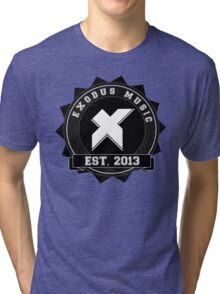 Exodus Music Badge Logo Tri-blend T-Shirt