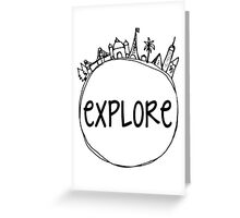 Explore Globe Greeting Card
