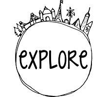 Explore Globe Photographic Print