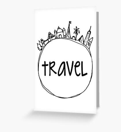 Travel Globe Greeting Card