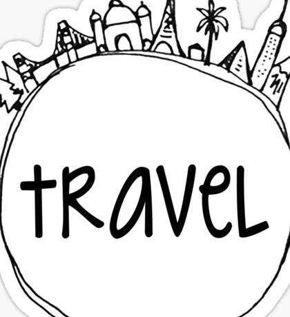 Travel Globe Sticker