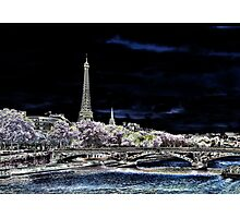 Paris bei Nacht - Paris by night Photographic Print