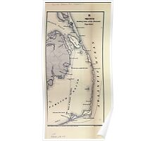 Civil War Maps 1674 Sketch showing route of the Burnside expedition to Roanoke Island NC February 6 1862 Poster