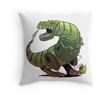 Robot T-rex Throw Pillow