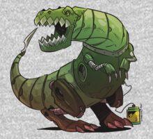 Robot T-rex One Piece - Long Sleeve