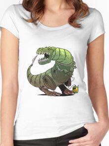 Robot T-rex Women's Fitted Scoop T-Shirt