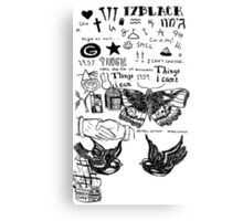 One Direction Harry styles tattoos  Canvas Print