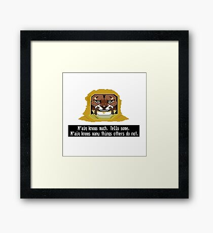 M'aiq The Liar  Framed Print