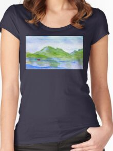 lone boat-scotland Women's Fitted Scoop T-Shirt