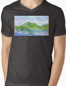 lone boat-scotland Mens V-Neck T-Shirt