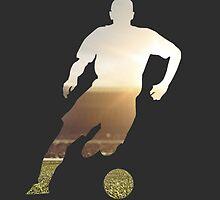 Soccer stadium silhouette by Frankie T