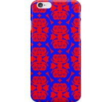 Audrey Blue Red Pattern iPhone Case/Skin