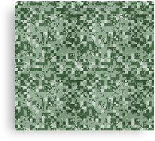 Cube Camo - Green Canvas Print