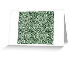 Cube Camo - Green Greeting Card