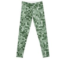 Cube Camo - Green Leggings