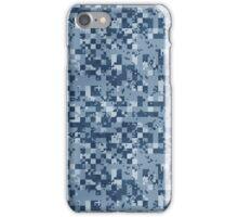 Cube Camo - Blue iPhone Case/Skin