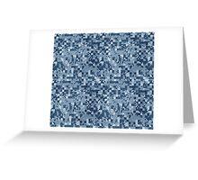 Cube Camo - Blue Greeting Card