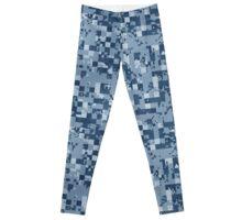 Cube Camo - Blue Leggings