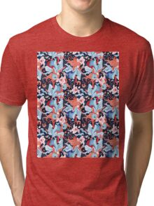 beautiful pattern of plants and birds lovers Tri-blend T-Shirt