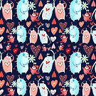 In love with a beautiful pattern with monsters by Tanor