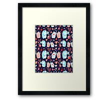 In love with a beautiful pattern with monsters Framed Print