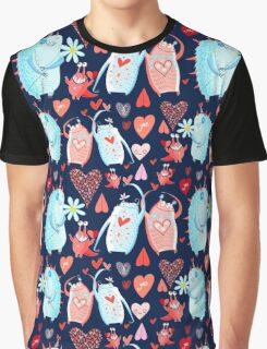 In love with a beautiful pattern with monsters Graphic T-Shirt