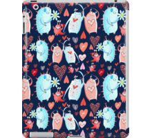In love with a beautiful pattern with monsters iPad Case/Skin