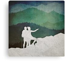 Trailblazers: A Couple of Hikers Canvas Print