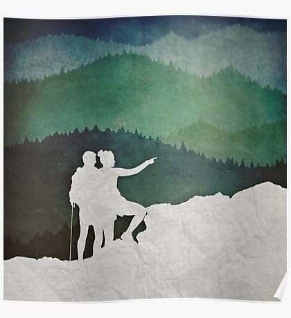 Trailblazers: A Couple of Hikers Poster