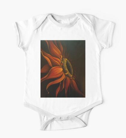 """Red Sunflower"" One Piece - Short Sleeve"
