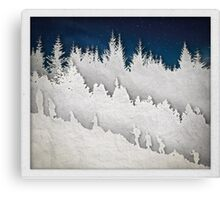 A Hike in the Snow Canvas Print
