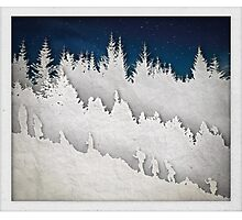 A Hike in the Snow Photographic Print