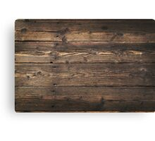 Wooden background. Texture with an old, rustic, brown planks Canvas Print