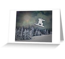 The Snowboarder Greeting Card