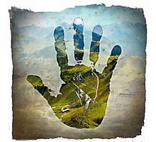 Earth Hand Print Photographic Print