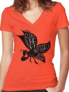Beetterfly Women's Fitted V-Neck T-Shirt