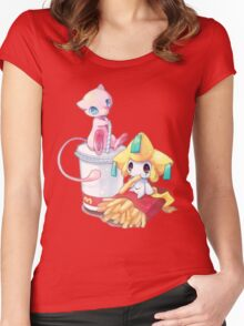 Jirachi & Mew Women's Fitted Scoop T-Shirt