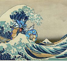 The Great Wave Off Gyarados by rupturedelart