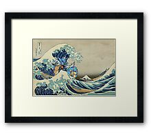 The Great Wave Off Gyarados Framed Print