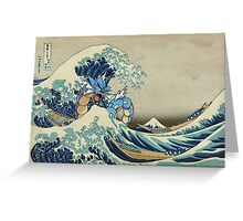 The Great Wave Off Gyarados Greeting Card